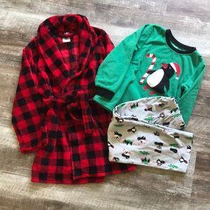 Christmas Pj's and Robe, Size 7